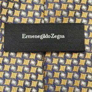 Ermenegildo Zegna CURRENT Yellow Gold Blue tie